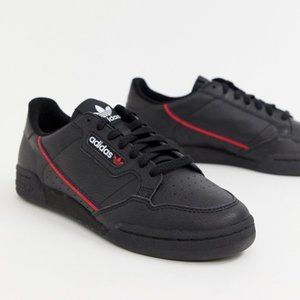 Adidas Continental 80 Leather Shoes Black Sneakers